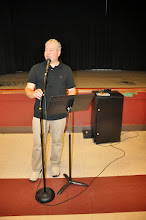 Photo: Our emcee for the evening was Michael Dylan Welch, who also edited and designed the RASP poetry anthology.