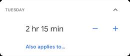 Set screen time limits