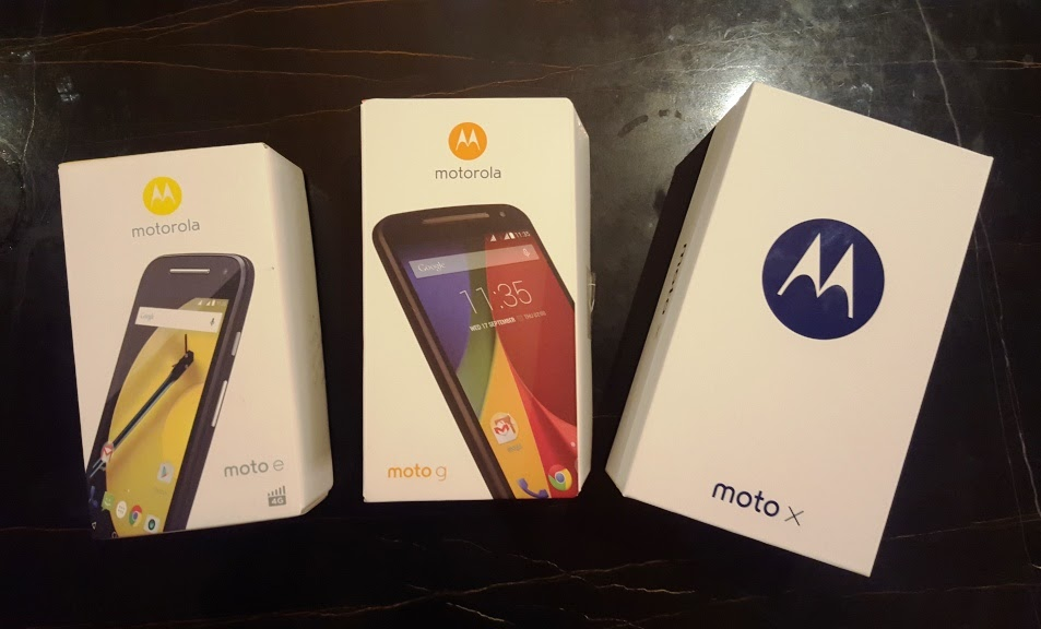 MOTO E, MOTO G, AND MOTO X SIDE-BY-SIDE