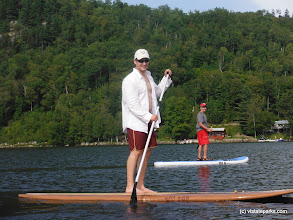 Photo: Stand-up paddleboarding fun at Crystal Lake State Park by Renee McWilliams