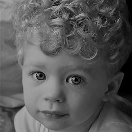 Look at That Hair  B&W by Cheryl Korotky - Black & White Portraits & People