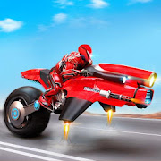 Flying Moto Robot Hero Hover Bike Robot Game