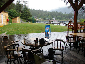 Photo: The pavillion and store at the dock on Big Bay.