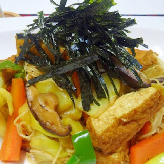 Curry Somen Noodles Chanpuru (Stir-Fry) with Atsuage Tofu