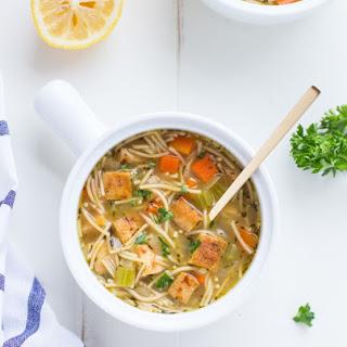 Tofu 'Chicken' Noodle Soup