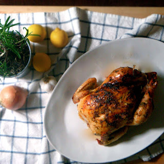 Lemon, Rosemary, and Garlic Whole Roast Chicken