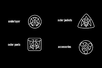 "Photo: Clothing Icons - ""Underlayer, Outer Jackets, Outer  Pants, Accessories"" icon designs"