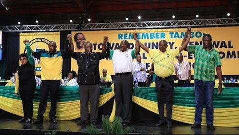 The ANC's new top six leaders have been named at the party's elective conference in Nasrec, Johannesburg. Cyril Ramaphosa was named the new president of the party.