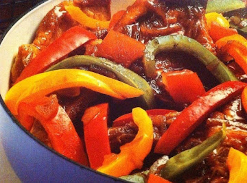 Pork Steaks With Peppers Recipe