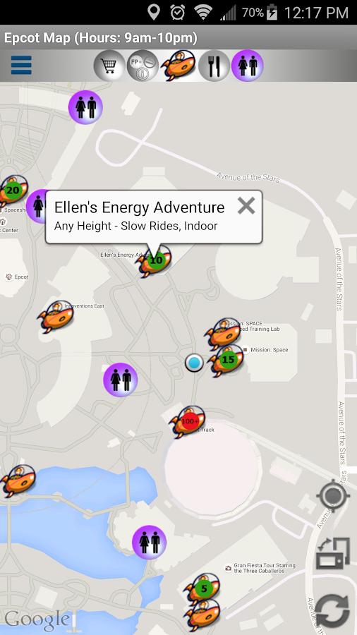 Map for Disney World - Lite- screenshot