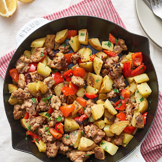 Fried Potatoes and Sausage Skillet.