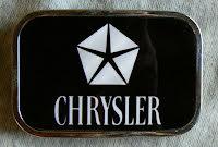 Bältesspänne Chrysler kromad platta
