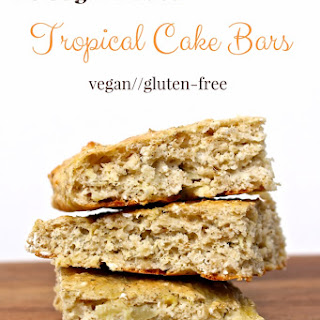No Sugar Added Tropical Cake Bars