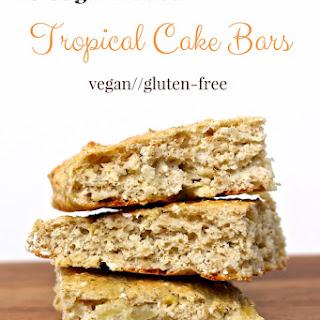 No Sugar Added Tropical Cake Bars