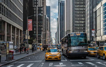 Photo: Something a little different for #TransportTuesday curated by +Gene Bowker+Michael Earley+Steve Boykoand +Joe Paul. The shot was taken in the crosswalk at 54th and 6th Avenue in New York. Plenty of transportation at this location!  #BreakfastClub curated by +Gemma Costa