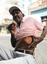 Photo: man who was tortured during batista regime. cuba. Tracey Eaton photo