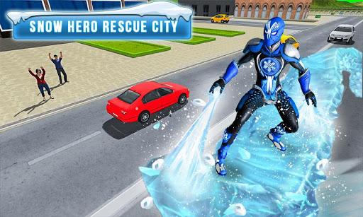 Superhero Frost Man City Rescue: Snowstorm Game 1.0.7 screenshots 1