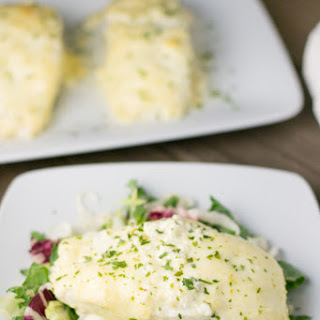 Halibut with Lime Garlic Sauce.