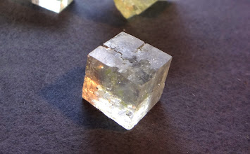 Photo: The clearest table salt crystal in collection. Size about 1 cm.