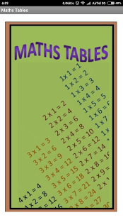 Maths Tables - náhled