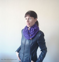 Photo: женский вязаный шарф-снуд Фиалка