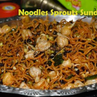 Noodles Sprouts Sundal – with Sunfeast Yippee Vegetable Atta Noodles