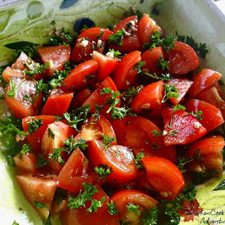 Tomato Salad with Balsamic Parsley Dressing.