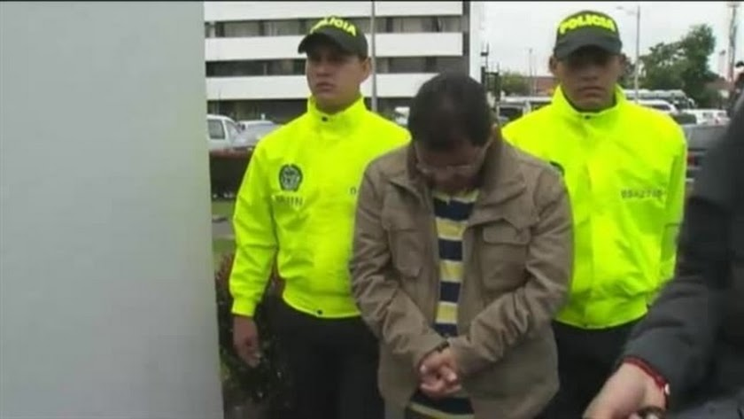 Imagen del detenido en Colombia.