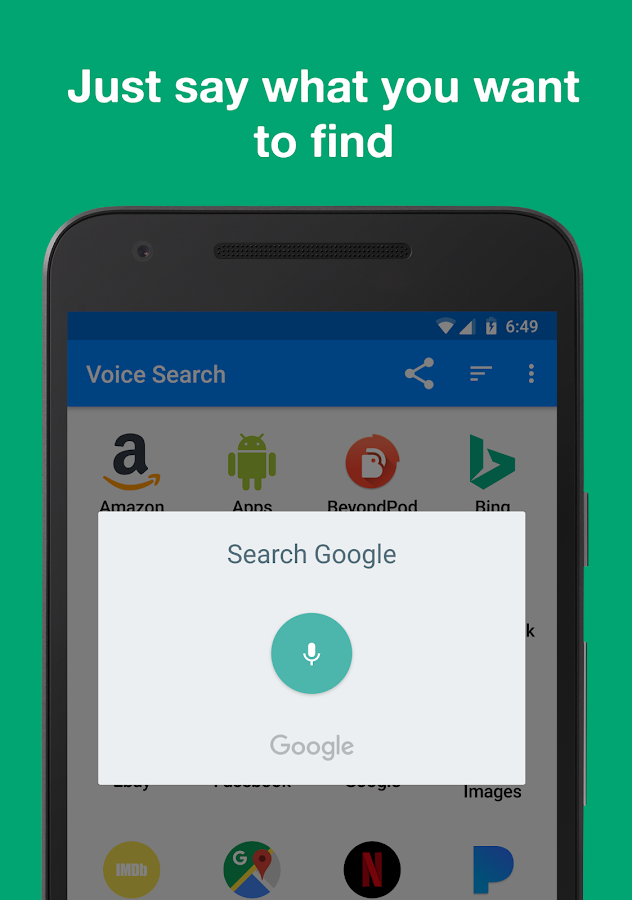 Voice Search- screenshot