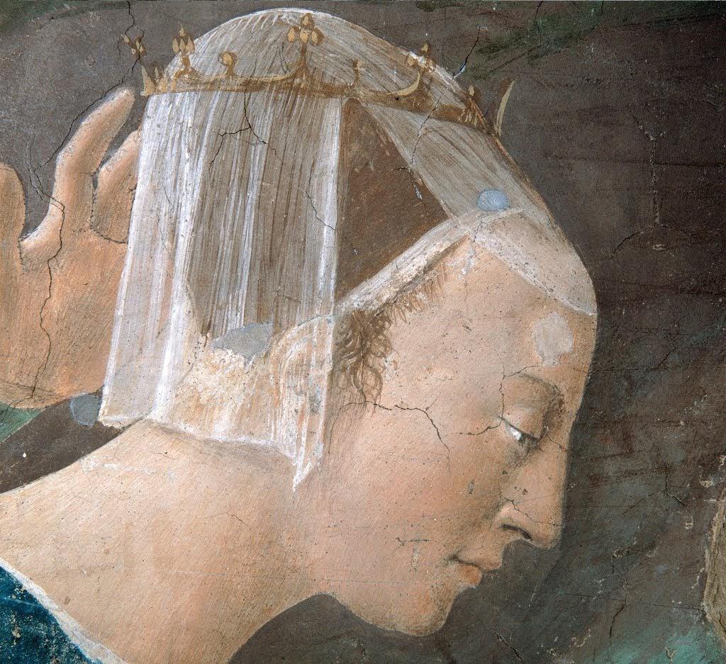 Piero della Francesca, Adorazione della Croce (particolare Regina di Saba), Basilica di San Francesco, Arezzo