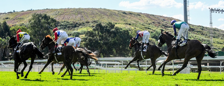 A race at Turffontein Racecourse in Johannesburg. Picture: SYDNEY SESHIBEDI/GALLO IMAGES
