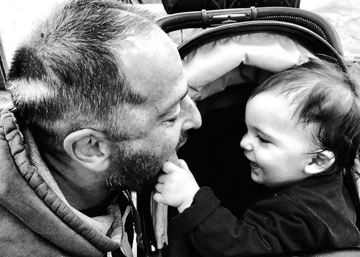Jonathan Kaplan and his son Kaleb.