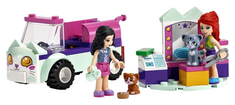 Contenido de Lego® 41439 Peluquería Felina Móvil