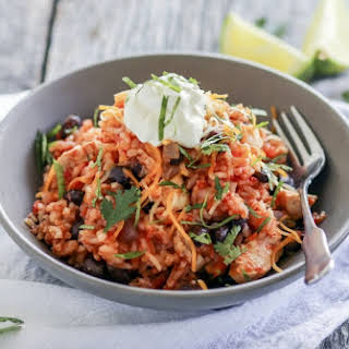 Pressure Cooker Chipotle Chicken Black Beans and Rice.