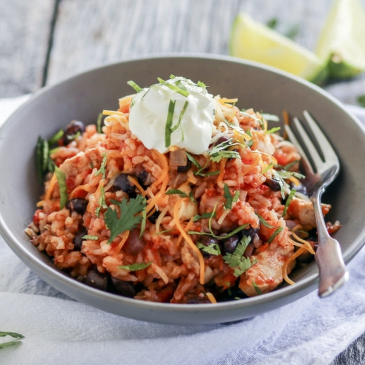 Pressure Cooker Chipotle Chicken Black Beans and Rice