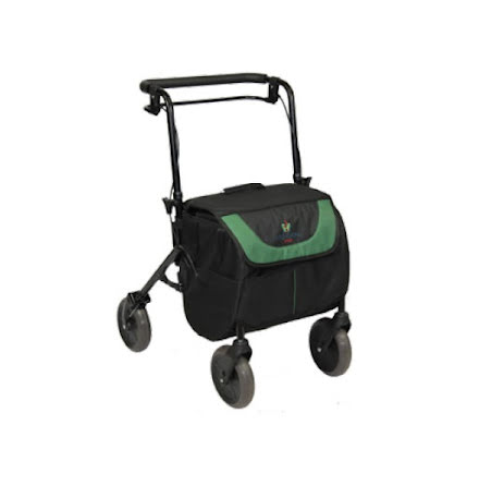 Rollator med shoppingbag