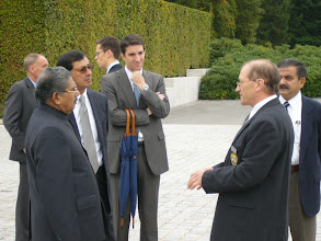 Photo: Giving a briefing to India's Minister for Overseas Indian Affairs Vayalar Ravi in October 2009. Photo by Nico Schroeder.
