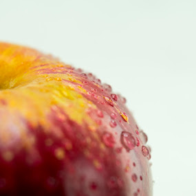 Fresh Red apple close up with drops by Basant Malviya - Food & Drink Fruits & Vegetables ( apple, fruits, healthy, food,  )