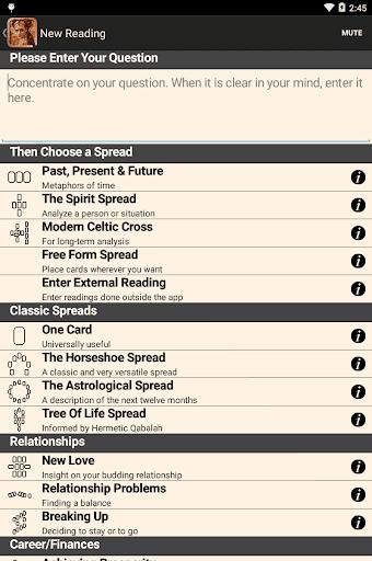 Legacy of the Divine Tarot screenshot 5
