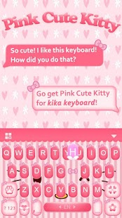 Pink Kitty Keyboard Theme - náhled