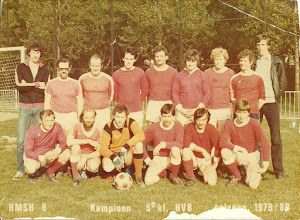 Photo: H.M.S.H. 9 kampioen res. 5e klasse H.V.B. seizoen 1979 - 1980