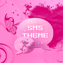 Pink Heart Theme SMS Pro