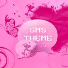 Tema rosa del corazón SMS Pro icon