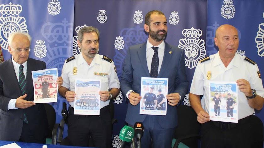Presentación de los actos patronales de la Policía Nacional, este año con sede estatal en Almería