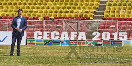 Photo: Coach McKinstry [Rwanda vs Sudan, CECAFA 2015, Semi final, 3 Dec 2015 in Addis Ababa, Ethiopia.  Photo © Darren McKinstry 2015, www.XtraTimeSports.net]