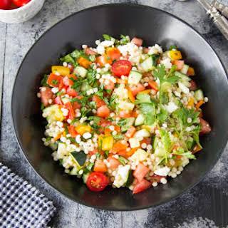 Chopped Israeli Couscous Salad.