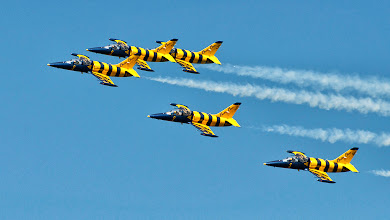 "Photo: ""Baltic Bees"" na samolotach L-39 Albatros (Łotwa)"