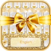 Gold Bow Keyboard Theme