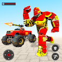 US Army Monster Truck Transform Robot Games icon