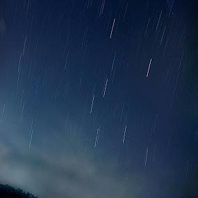 Star trails by Ed ARS - Landscapes Starscapes ( sky, fine art, light trails, seascape, landscape )